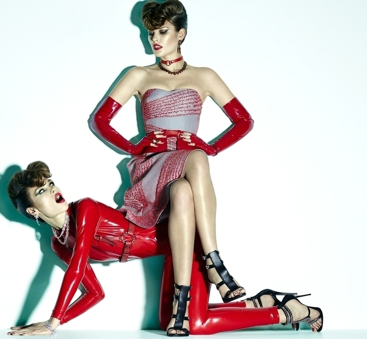 Photo by Greg Kadel. Model Catherine McNeil & Anastasia Khodkina. For Numéro 1.jpg