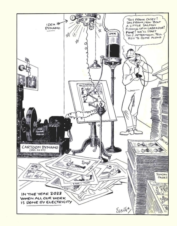 The Future of Cartooning, as seen by H.T. Webster in 1923 ~ 12748052_10153348429172483_6404219892130813587_o.jpg
