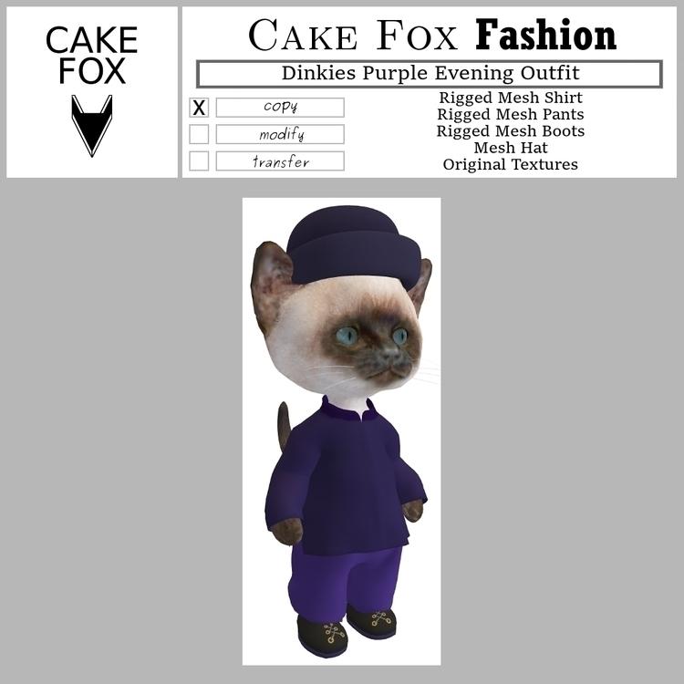 Cake Fox Fashion Dinkies Purple Evening Outfit.jpg