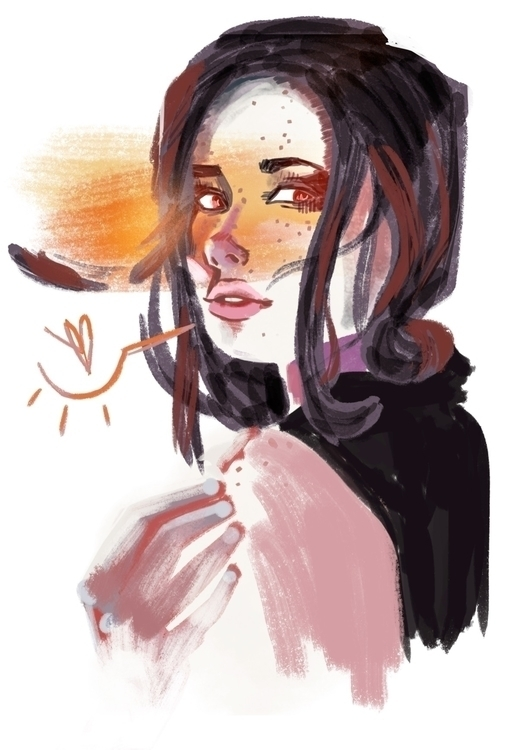 Warmup sketch Hanna Russell - fashion - evandileo | ello