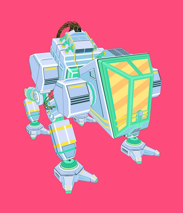 3d, mecha, loop, gif, robot, tech - breezco | ello