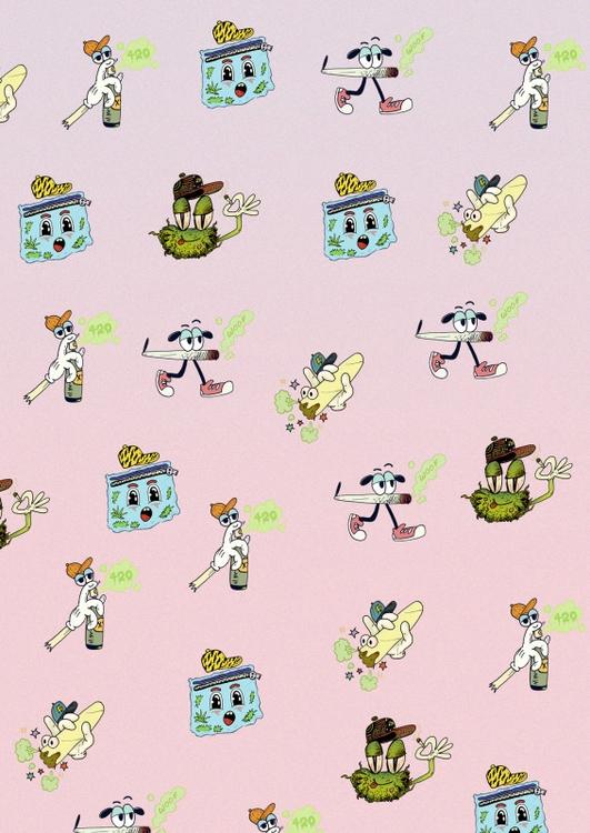Weed Doodles pattern illustrati - andrecoronado   ello