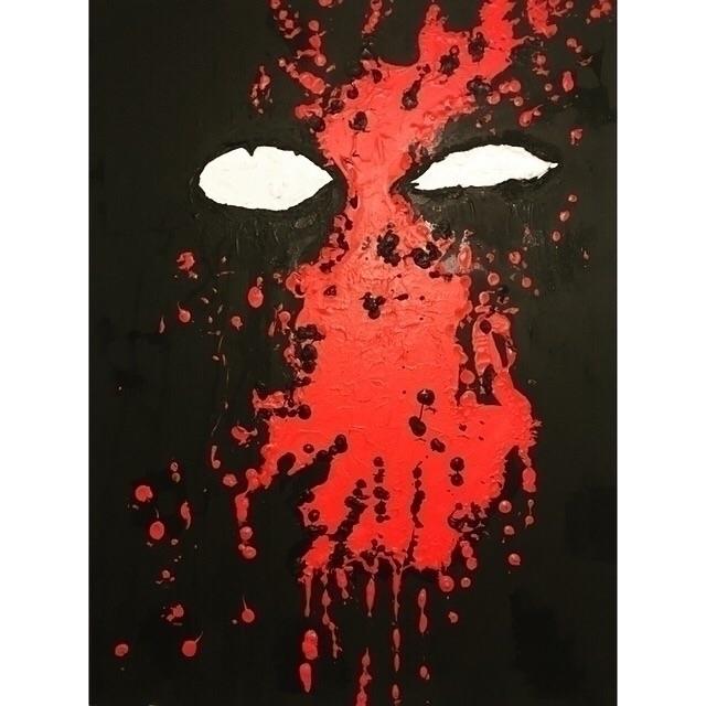 "Deadpool Abstract 24""x30"" Canva - unicornblooded | ello"