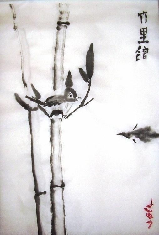 "bamboo Pavilion, , 12""x18,"" $70 - clan_morrison_art | ello"