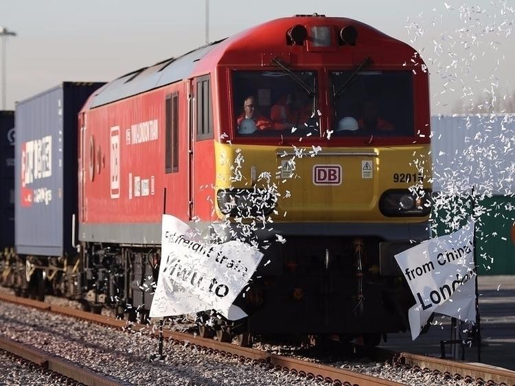 First Freight Train To The U.K. - ellorailways | ello