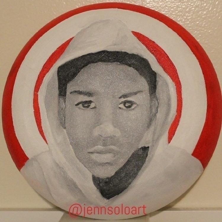 Trayvon Martin. Acrylic canvas  - jennsolo | ello
