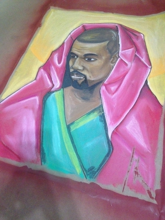 Kanye West. Created paint paste - jennsolo | ello