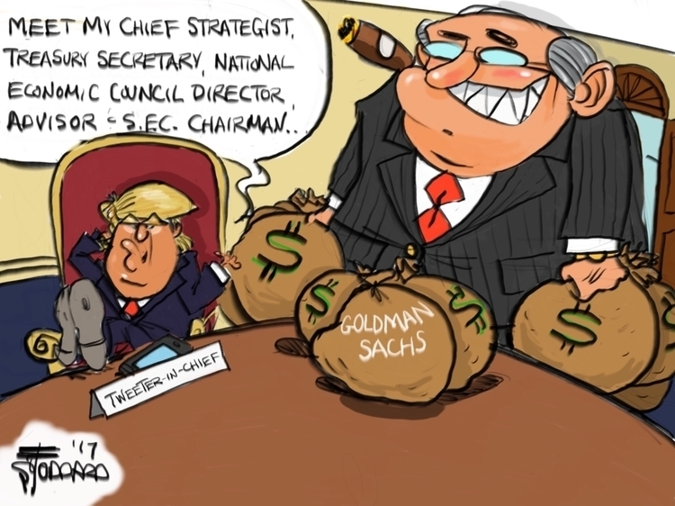 Government Sachs illustration,  - sstoddard | ello
