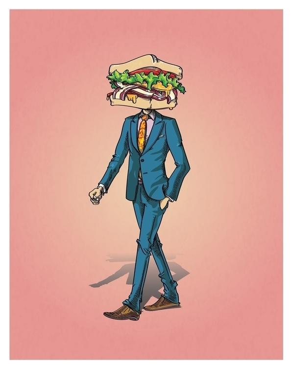 comission sandwich suit classy  - mausventura | ello