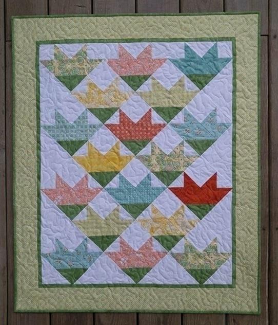 My quilt finish year! Inspired  - sliceofpilife   ello