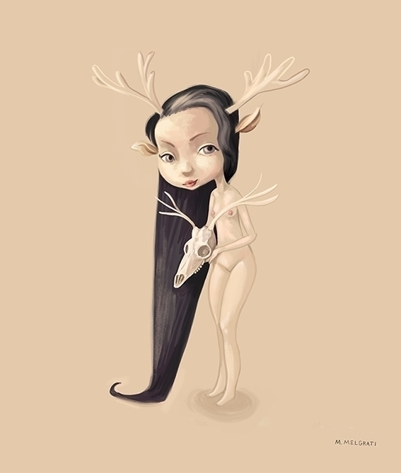 Savage girl cute animal strange - marcomelgrati | ello