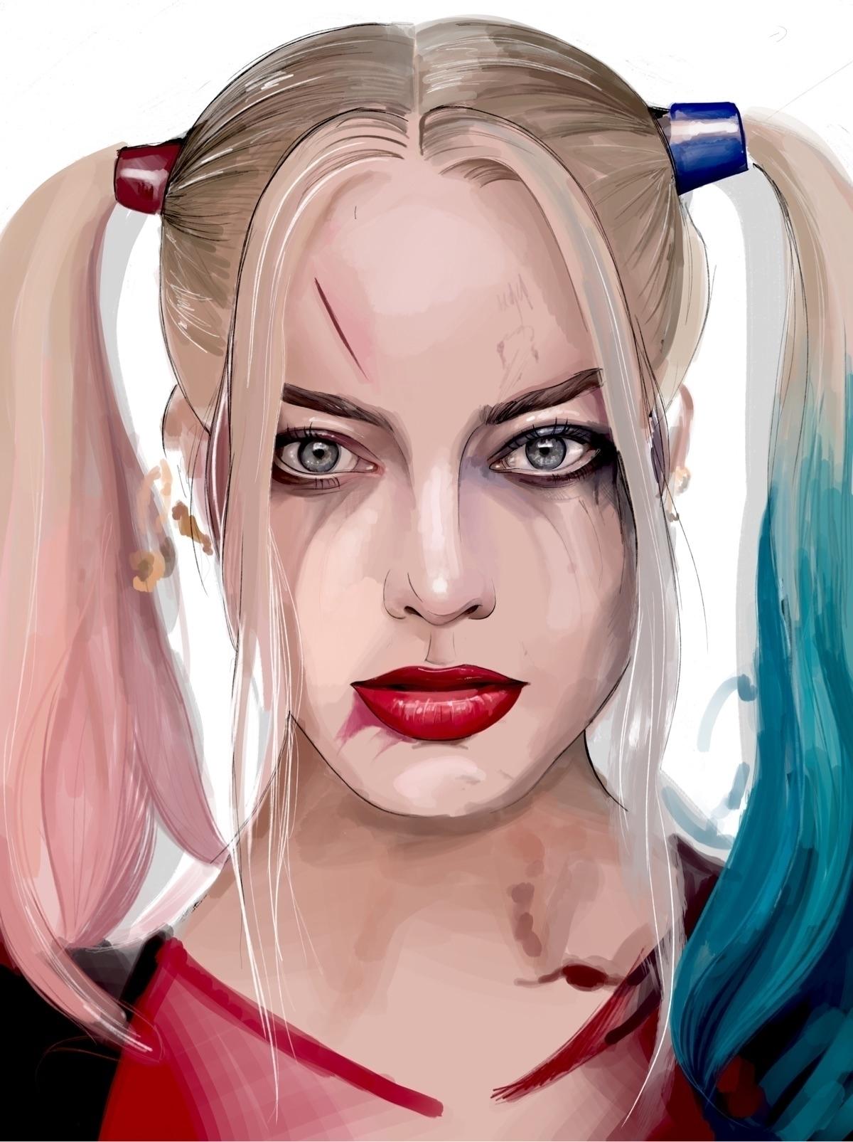 Harley Quinn Illustration Me ha - fmonroyr | ello