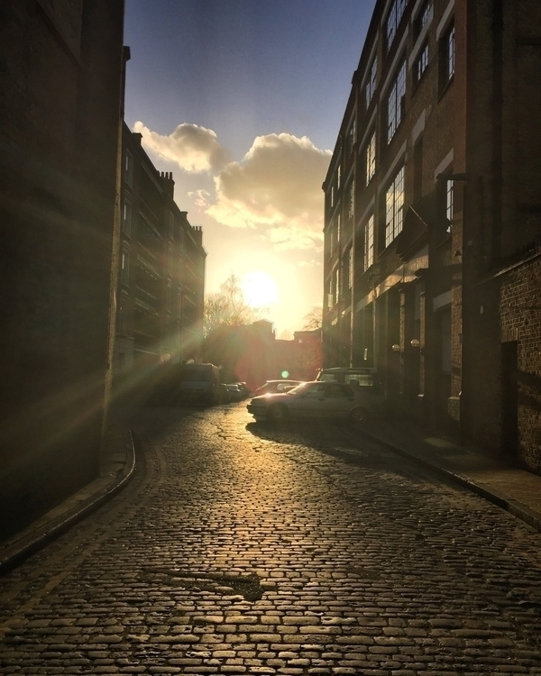 My fair Wapping sunset cobbled - howsweetthesting | ello