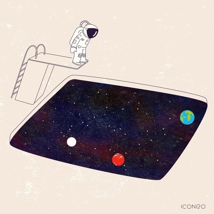 Jump! astronaut space - iconeo | ello