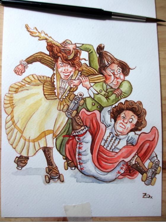 Victorian ladies roller derby,  - zoraida_zaro | ello