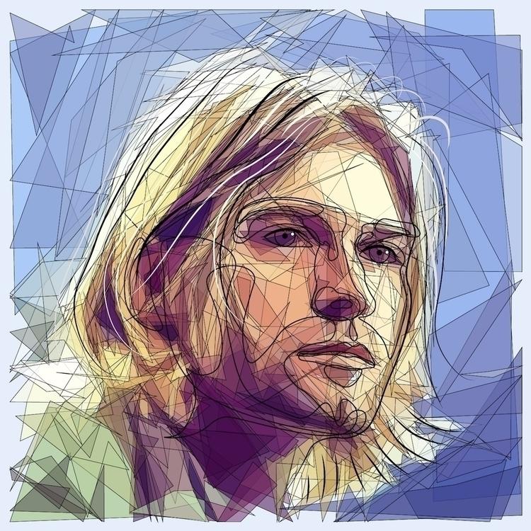 Kurt 1/3 kurt cobain 2d doodle  - sandromartini   ello