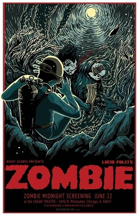 Poster design Zombie screening, - jaimeraposo | ello