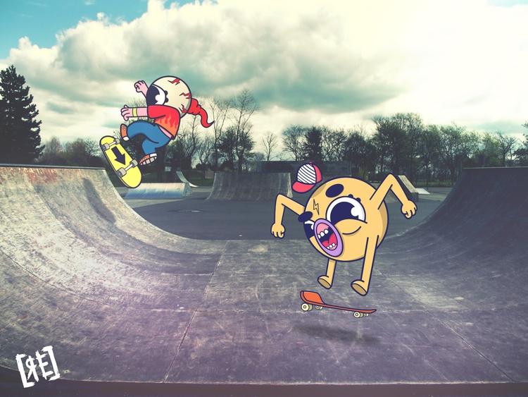 Skate buddies illustration art  - redaelmraki   ello