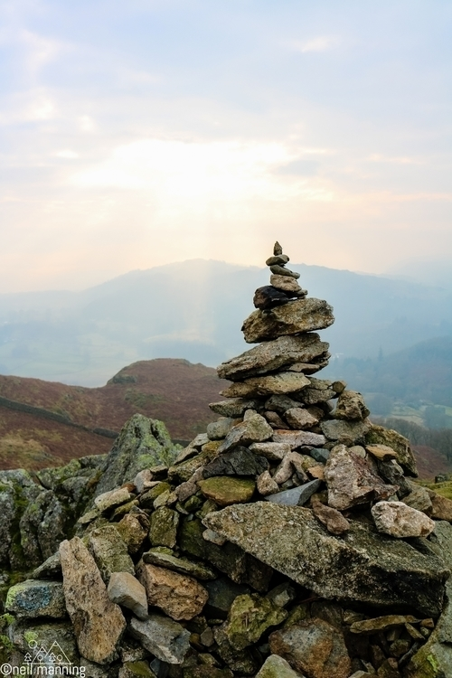 Balance cairn fells winter loug - the-wooks | ello