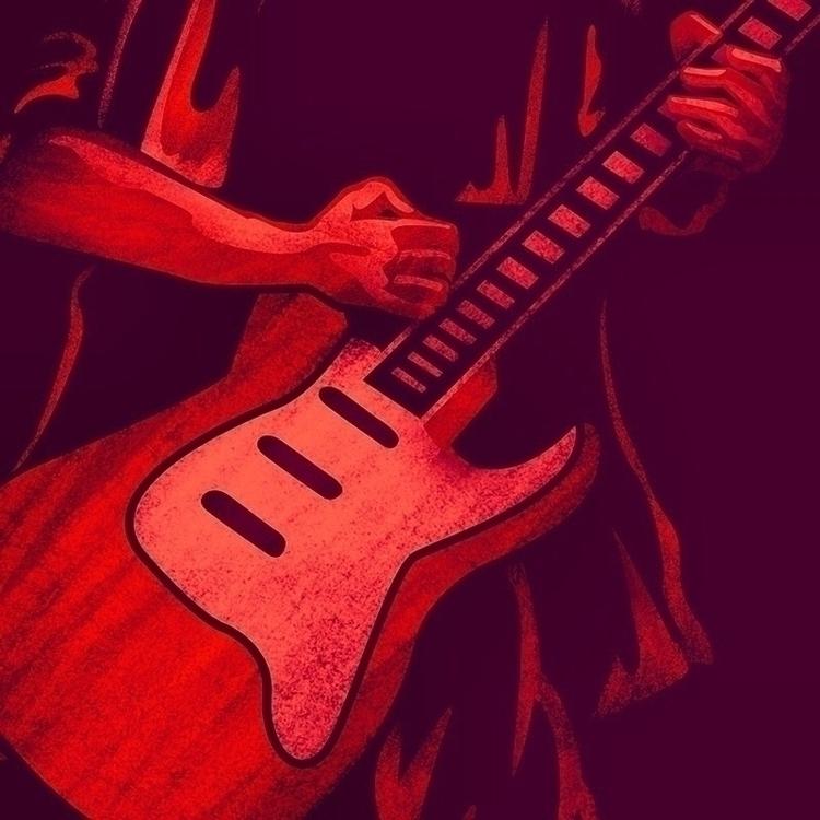 Closeup Strat Guitar rollingsto - phoenixstudios | ello