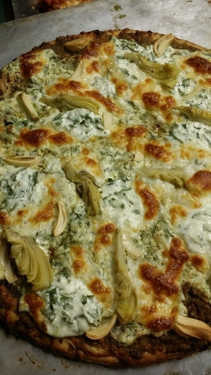 White pie artichoke hearts garl - thefusethatburns | ello