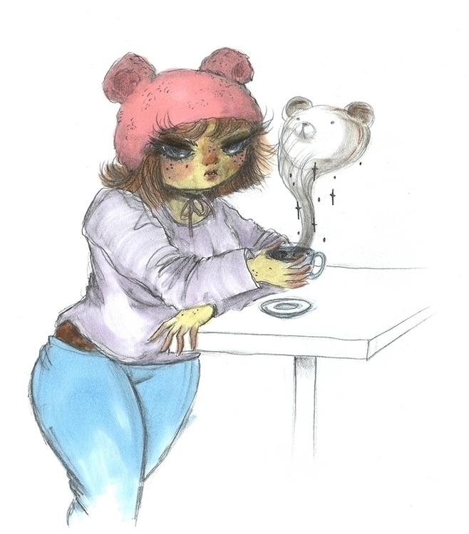 Bear I cup coffee... illustrati - anneliolanderberglund   ello