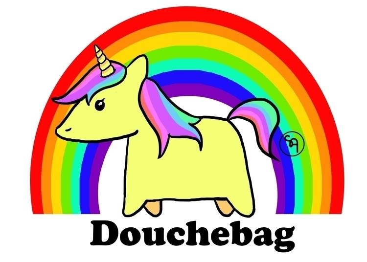 Offensive rainbow unicorn Zazzl - sarcasticartists | ello