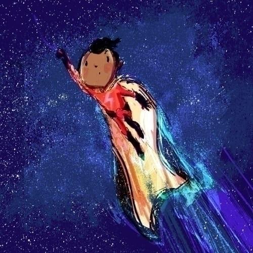 Super boy! illustration - katealizadeh | ello