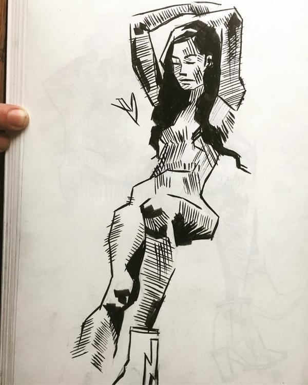 Leah, 20 minute II sketchbook l - evandileo   ello