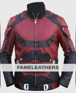 Classic Red Leather Jacket (Fre - fameleathers | ello