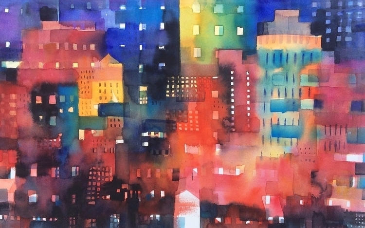 Urban landscape 8 - Shadows lig - andreuccettiart | ello