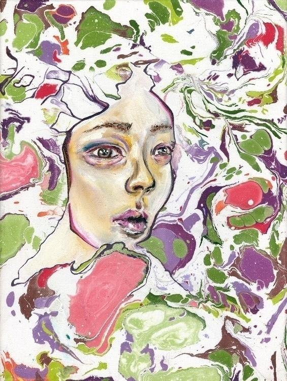 oil, acrylic, watercolor canvas - summarlababidi | ello