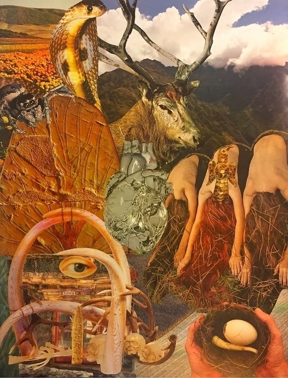 """Earth Magic"" collage Bonnie Cu - arcanememory 