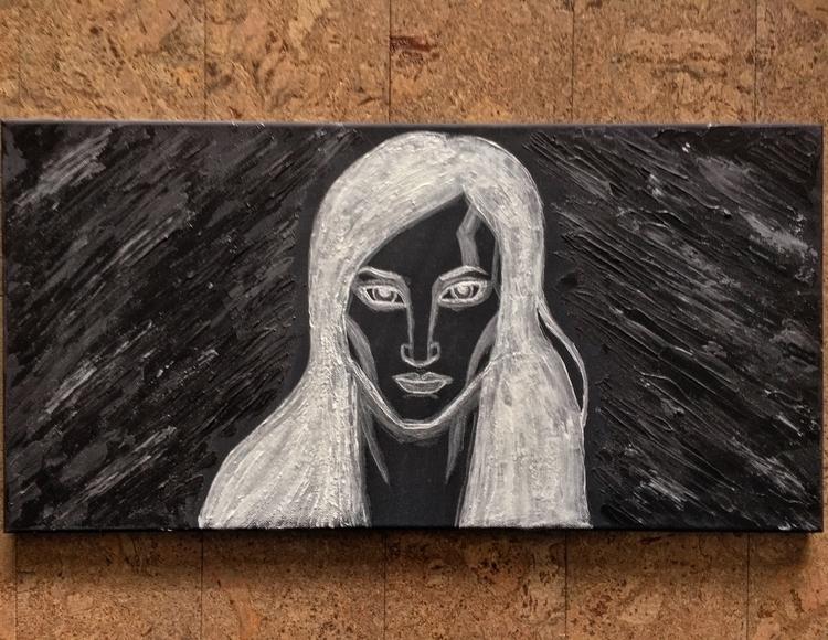Glow dark ink, black canvas. in - talonracer | ello