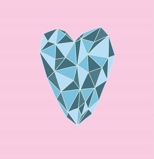 Geometric Heart abstract heart  - eugenie_s | ello