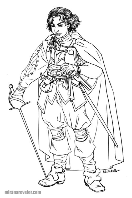 Today sketched character concep - mirana | ello