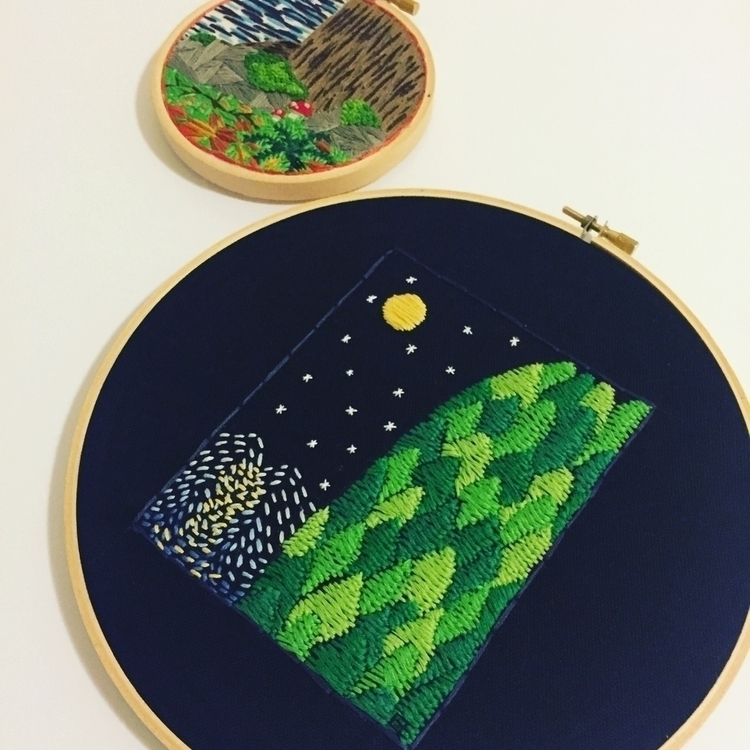 Original hand embroidered art.  - wrenbirdarts | ello