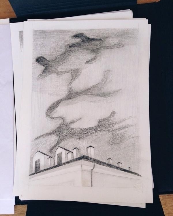 night, WIP illustration drawing - tereau | ello