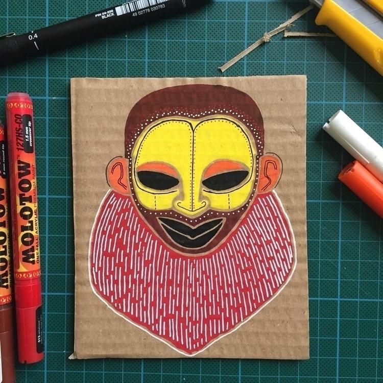 Cardboard fun illustration draw - mariosupa | ello