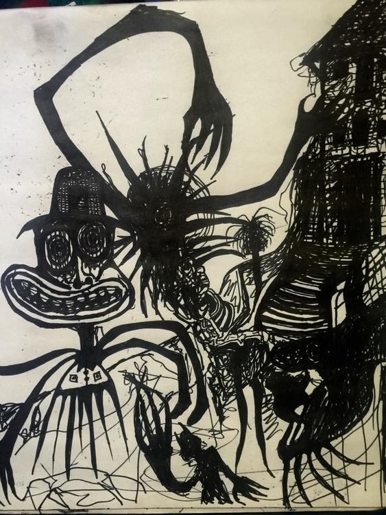load pics draw feel creepy poin - jupitercyclops | ello