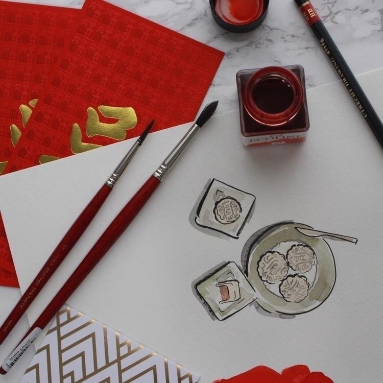 Celebrating Chinese Year waterc - katiecadamatre | ello