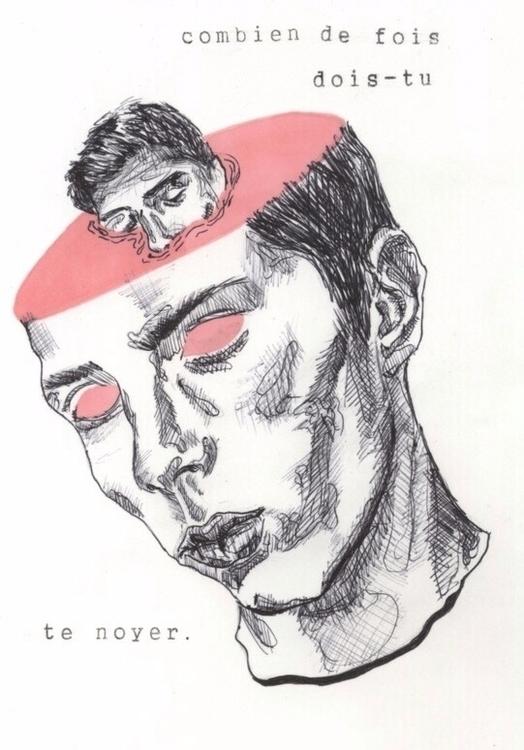 ink black white illustration pi - die-at-tiffxnys | ello