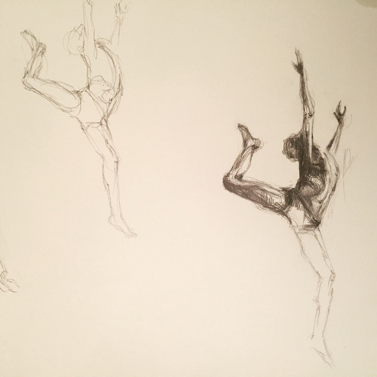 JUMP! Drawing studies leap danc - solangeleoniriarte | ello