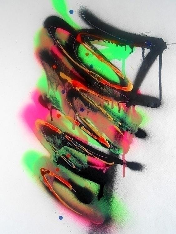 Colorz 04 - spray ink paper art - benoit-vial   ello