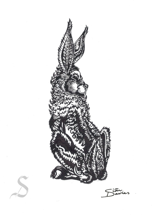 'Wary Wabbit' Fineliner A5 cart - siandcreations | ello