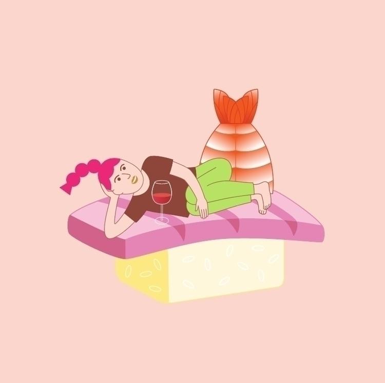 Sushi Girl 👀 - dingdinghu | ello