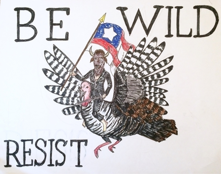 BeWild Resist womensmarch - pennybin | ello