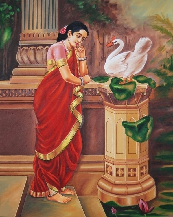 Painting Raja Ravi Varma. India - candydhami | ello