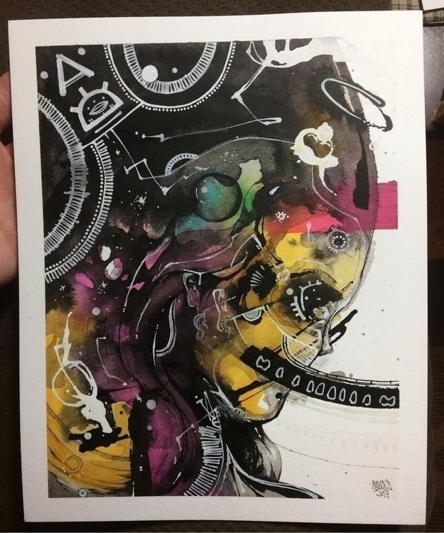 NEBULA 8x10 Watercolor & in - awake_pdx | ello