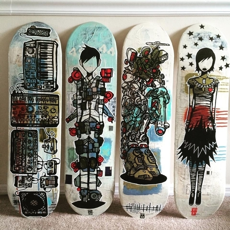 skateboard art lowbrow synthesi - aaronkraten | ello